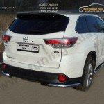 Пороги овальные с накладкой 120х60 мм Toyota Highlander 2014 +