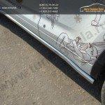 Пороги  труба d60 мм  Toyota Highlander 2014 +