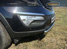 Защита передняя нижняя (овальная короткая) 75х42 мм Kia Sportage 2014+ / арт.743-9