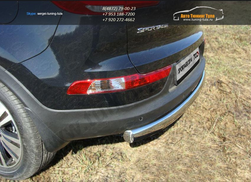 Защита задняя (овальная) 75х42 мм Kia Sportage 2014+ / арт.743