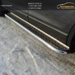 Пороги с площадкой (алюминий) 60,3 мм Mazda CX-9 2013+