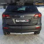 Защита задняя (овальная) 75х42 мм Mazda CX-9 2013+