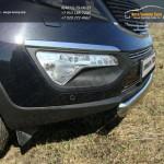 Защита передняя нижняя (овальная короткая) 75х42 мм Kia Sportage 2014+