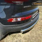 Защита задняя (овальная) 75х42 мм Kia Sportage 2014+