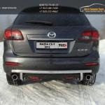 Защита задняя (центральная) 50,8/42,4 мм Mazda CX-9 2013+