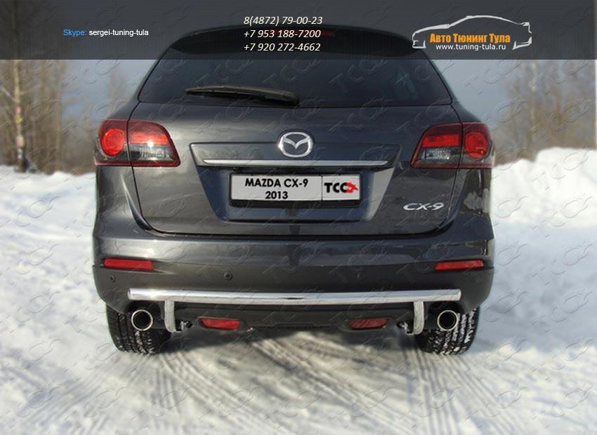 Защита задняя (центральная) 50,8/42,4 мм Mazda CX-9 2013+ /арт.741-1