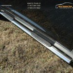 Пороги овальные с накладкой 75х42 мм Kia Sportage 2014+