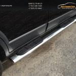 Пороги овальные с накладкой 120х60 мм Mazda CX-9 2013+