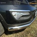 Защита передняя нижняя (овальная) 75х42 мм Kia Sportage 2014+