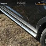 Пороги овальные с проступью 75х42 мм Kia Sportage 2014+