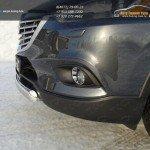 Защита передняя (овальная) 75х42 мм Mazda CX-9 2013+