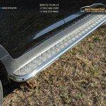 Пороги с площадкой (алюминиевый лист) 42,4 мм Kia Sportage 2014+