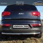 Защита задняя (центральная) 60,3 мм Kia Sportage 2014+
