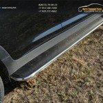 Пороги с площадкой (нерж. лист) 42,4 мм Kia Sportage 2014+