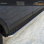Пороги с площадкой (алюминий) 42.4 мм Mazda CX-9 2013+