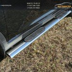 Пороги овальные с накладкой 120х60 мм Kia Sportage 2014+