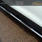 Пороги овальные с накладками 75х42 мм Nissan Qashqai 2014 +