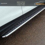 Пороги с площадкой (алюминиевый лист) 42,4 мм Nissan Qashqai 2014 +