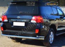 Защита заднего бампера d76(секции)d42(уголки) Toyota LC 200 с 2012г.в./арт.399-4