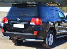 Защита заднего бампера уголки D76(секции) Toyota LC 200 с 2012г.в./арт.399-5