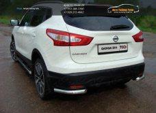 Защита задняя (уголки) 60,3 мм Nissan Qashqai 2014 +/арт.740-7