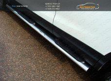 Пороги овальные с накладкой 120х60 мм Nissan Qashqai 2014 +/арт.740-14