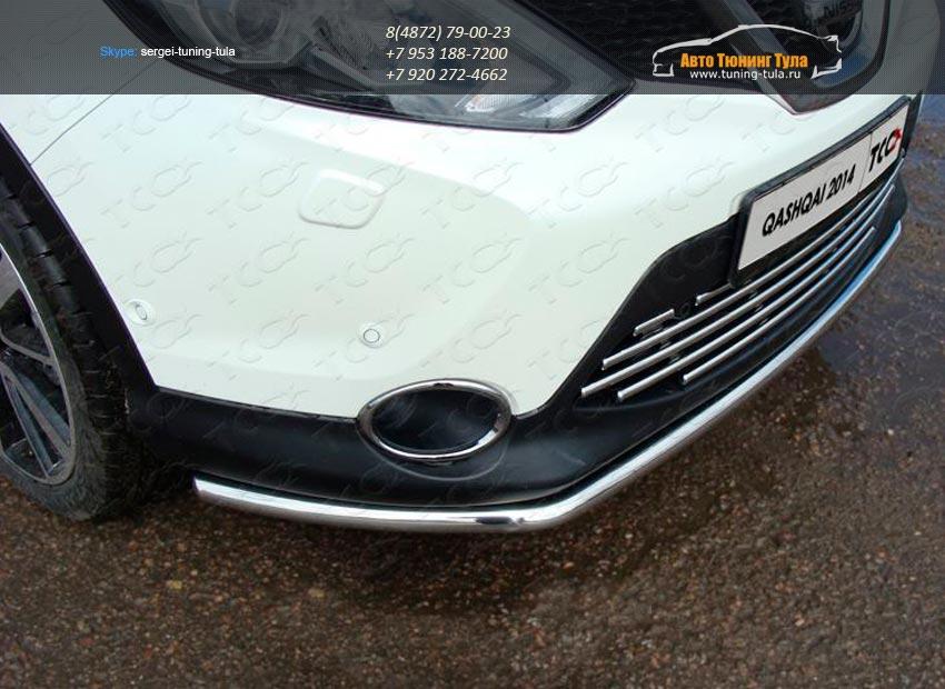 Защита передняя нижняя 42.4 мм Nissan Qashqai 2014 +/арт.740-19
