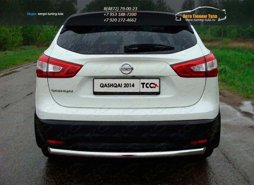 Защита задняя (центральная) 60,3 мм Nissan Qashqai 2014 +/арт.740-8