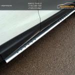 Пороги овальные с проступью 75х42 мм Nissan Qashqai 2014 +