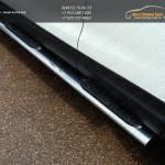 Пороги овальные с накладкой 120х60 мм Nissan Qashqai 2014 +