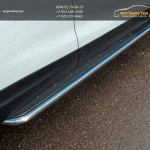 Пороги с площадкой (нерж. лист) 42,4 мм Nissan Qashqai 2014 +