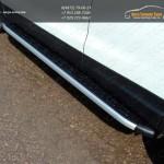 Пороги алюминиевые с пластиковой накладкой Nissan Qashqai 2014 +