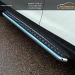 Пороги с площадкой (алюминиевый лист) 60,3 мм Nissan Qashqai 2014 +
