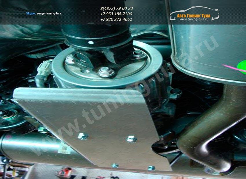 Защита дифференциала (алюминий) 4 мм Nissan Qashqai 2014 +/арт.740-20