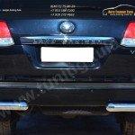 Защита заднего бампера уголки D76(секции) Toyota LC 200 с 2012г.в