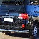 Защита заднего бампера d76(секции)d42(уголки) Toyota LC 200 с 2012г.в.