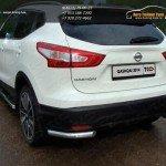 Защита задняя (уголки) 60,3 мм Nissan Qashqai 2014 +