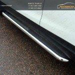 Пороги с площадкой (нерж. лист)  60,3 мм Nissan Qashqai 2014 +
