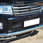 Защита переднего бампера d76 (секции) d42 (уголки)  Toyota LC 200 с 2012г.в.