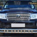 Защита переднего бампера D63 (секции) D63 (секции) декор Toyota LC 200 с 2012г.в.
