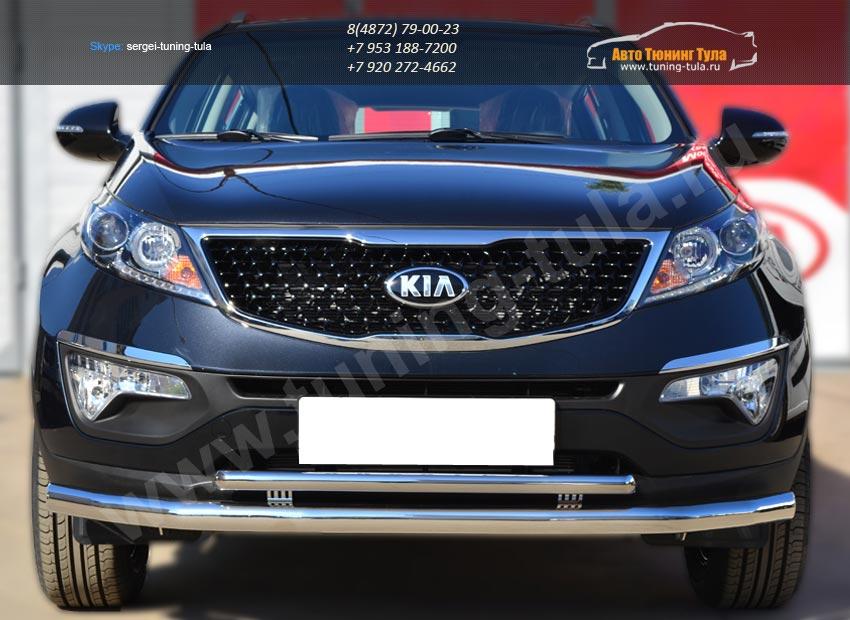 Защита переднего бампера d63 (секции) 42 (дуга)KIA SPORTAGE 2014- /арт.253-8