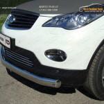 Защита передняя нижняя (овальная) 75х42 мм Infiniti QX 50 2014+