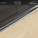 Пороги труба 75х42 овал с проступью KIA SPORTAGE 2014
