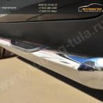 Пороги труба d76 с накладкой (вариант 1) KIA SPORTAGE 2014