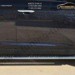 Пороги труба 75х42 овал с проступью KIA SPORTAGE 2014-