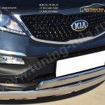 Защита переднего бампера d75х42 (дуга) d75х42 (дуга) KIA SPORTAGE 2014-