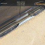 Пороги труба d76 с накладкой (вариант 1) KIA SPORTAGE 2014-