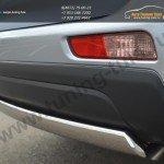 Защита бампера задняя d75x42 овал Mitsubishi OUTLANDER 2012+