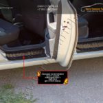 NVWP5-028402-Накладки порогов от царапин РА VW Polo sedan/Поло седан 2010+ /арт.701-3