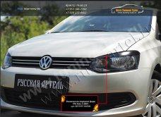 Накладки на фары реснички РА(вар2) VW Polo sedan/Поло седан 2010+ /арт.701-4-1